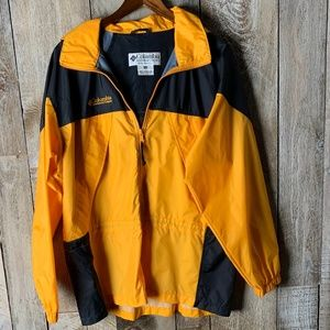 Columbia Windbreaker Light Rain Jacket Yellow Med